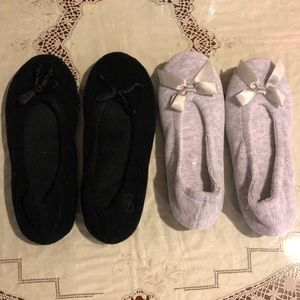 Bundle Isotoner terry ballet slippers